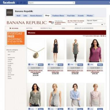 Banana Republic F-Commerce store 2011